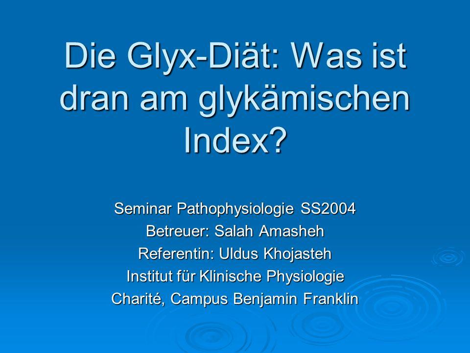 Die Glyx-Diät: Was ist dran am glykämischen Index