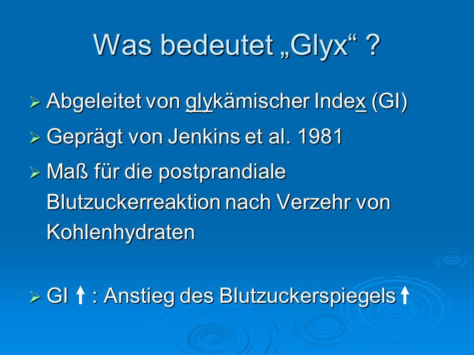 """Was bedeutet """"Glyx Abgeleitet von glykämischer Index (GI)"""