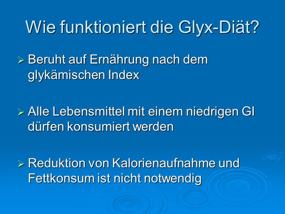 Wie funktioniert die Glyx-Diät