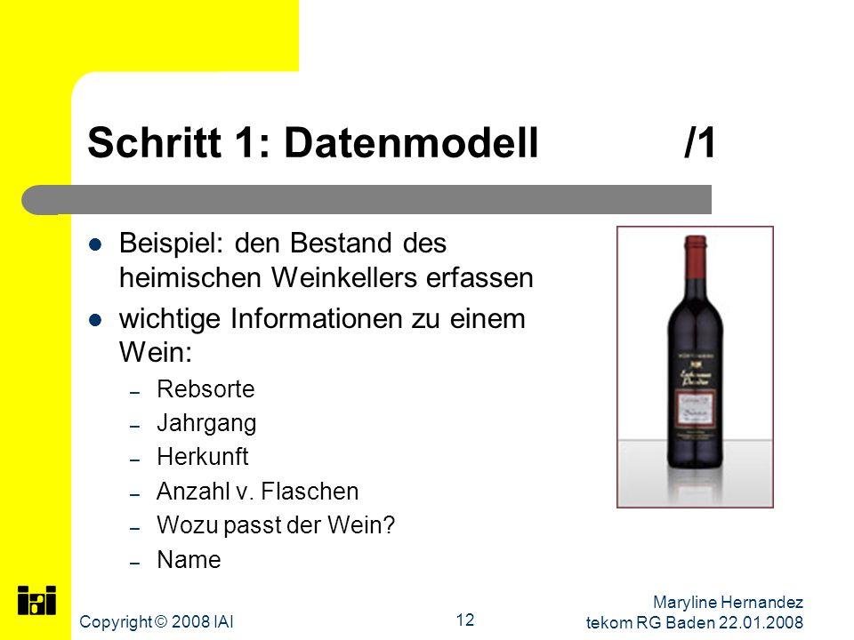 Schritt 1: Datenmodell /1