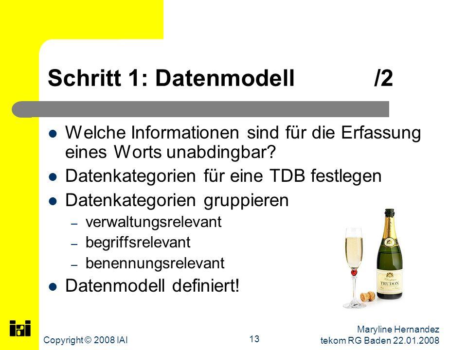 Schritt 1: Datenmodell /2
