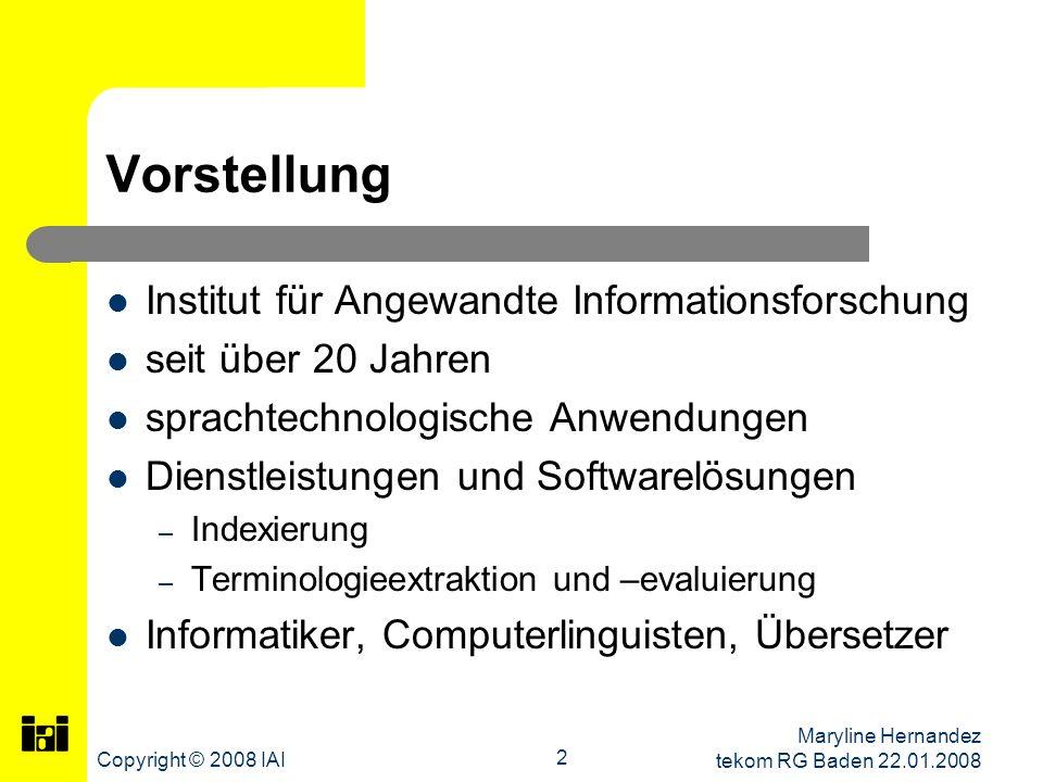 Vorstellung Institut für Angewandte Informationsforschung