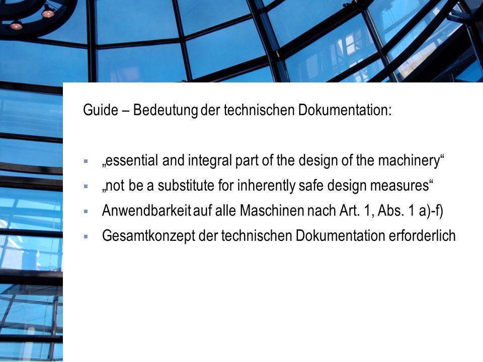 Guide – Bedeutung der technischen Dokumentation: