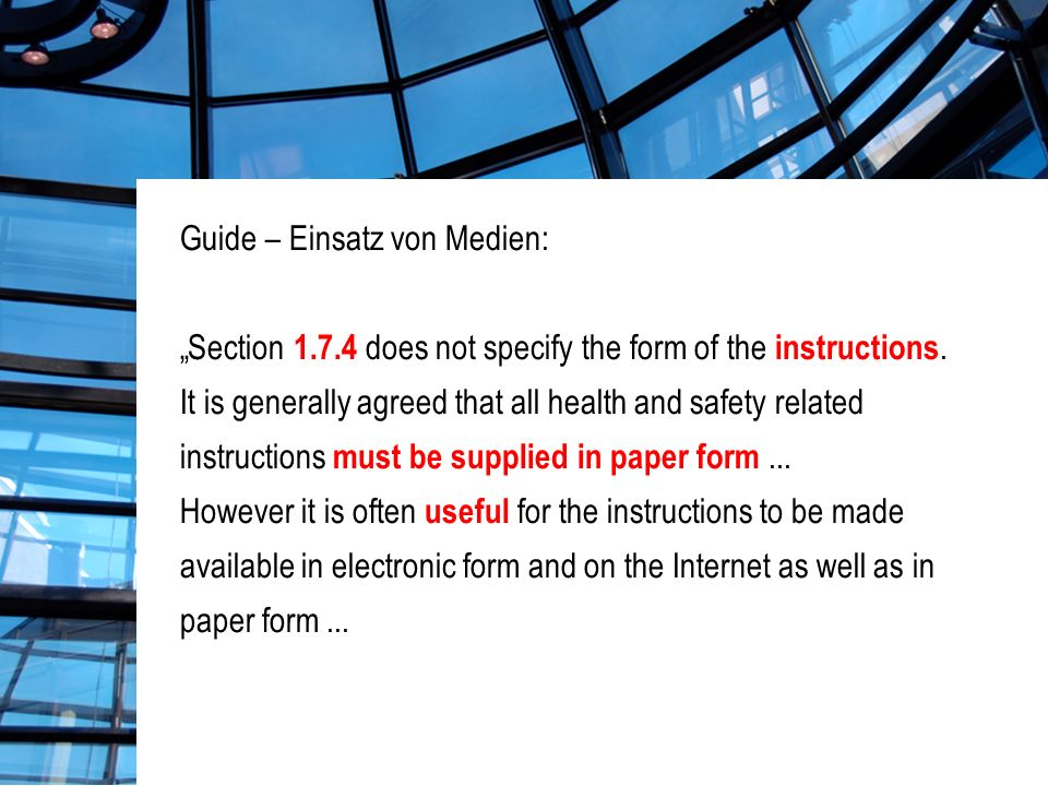 Guide – Einsatz von Medien: