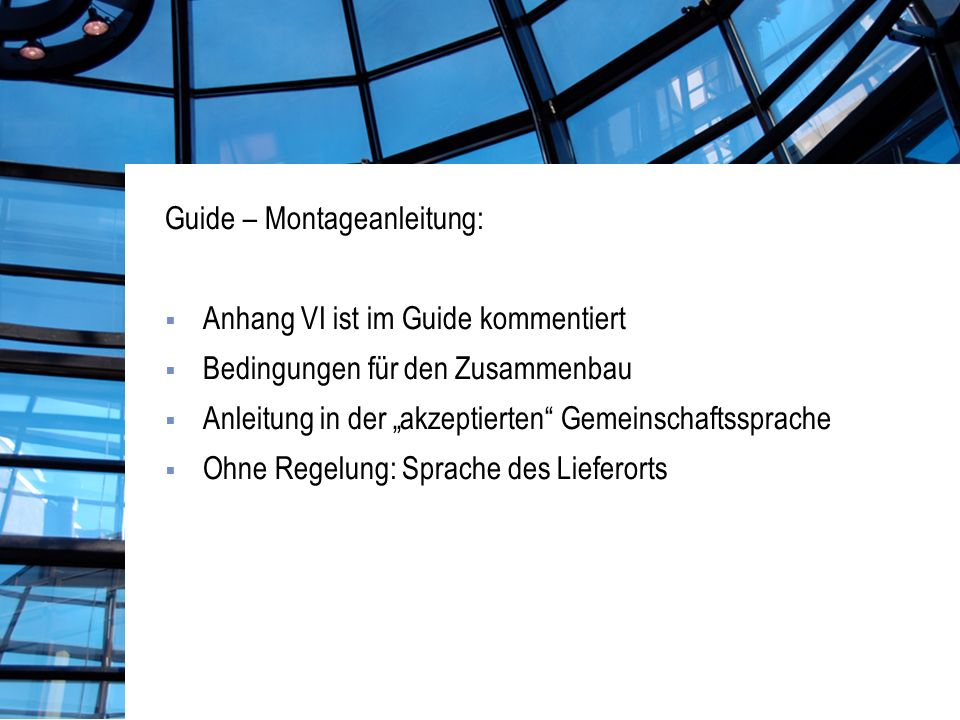 Guide – Montageanleitung: