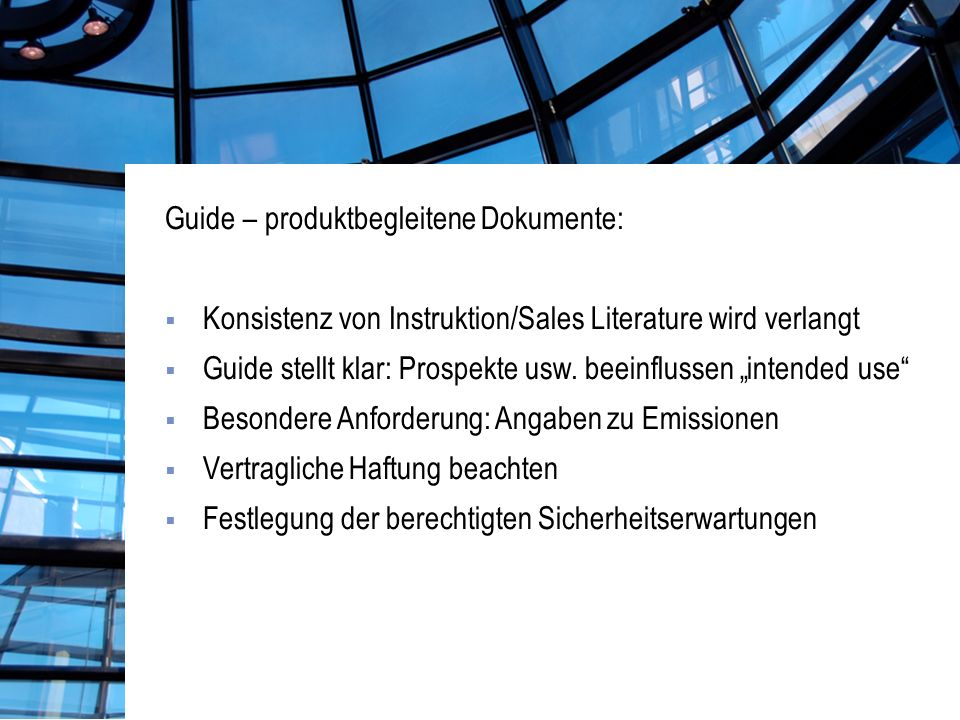 Guide – produktbegleitene Dokumente: