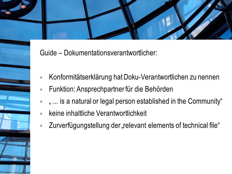 Guide – Dokumentationsverantwortlicher: