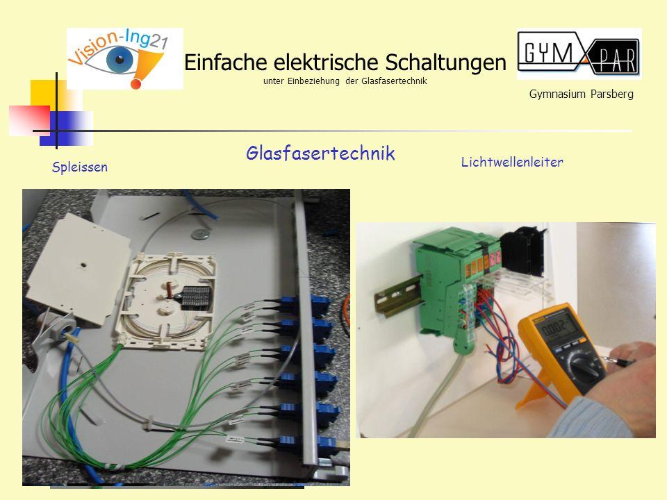 Glasfasertechnik Lichtwellenleiter Spleissen