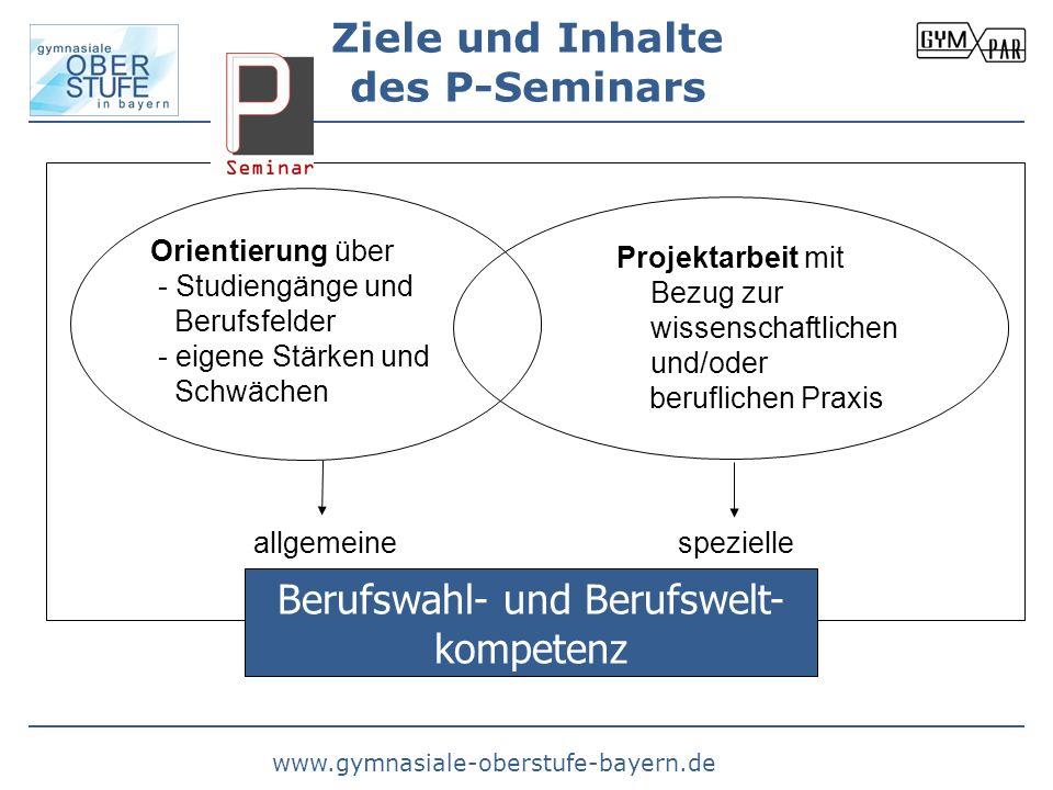 Ziele und Inhalte des P-Seminars