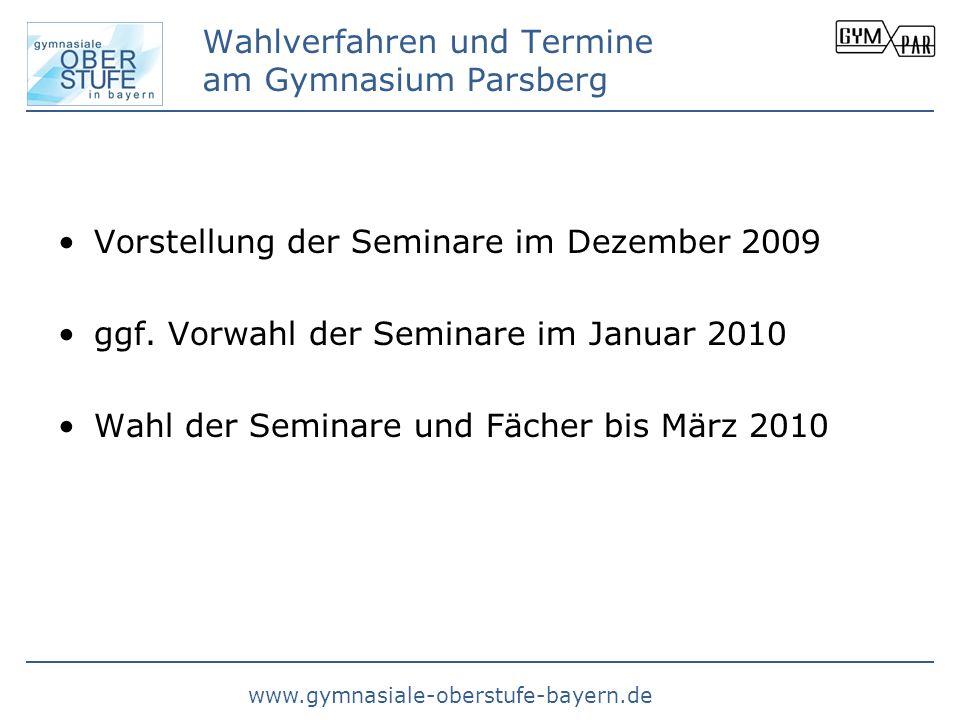 Wahlverfahren und Termine am Gymnasium Parsberg