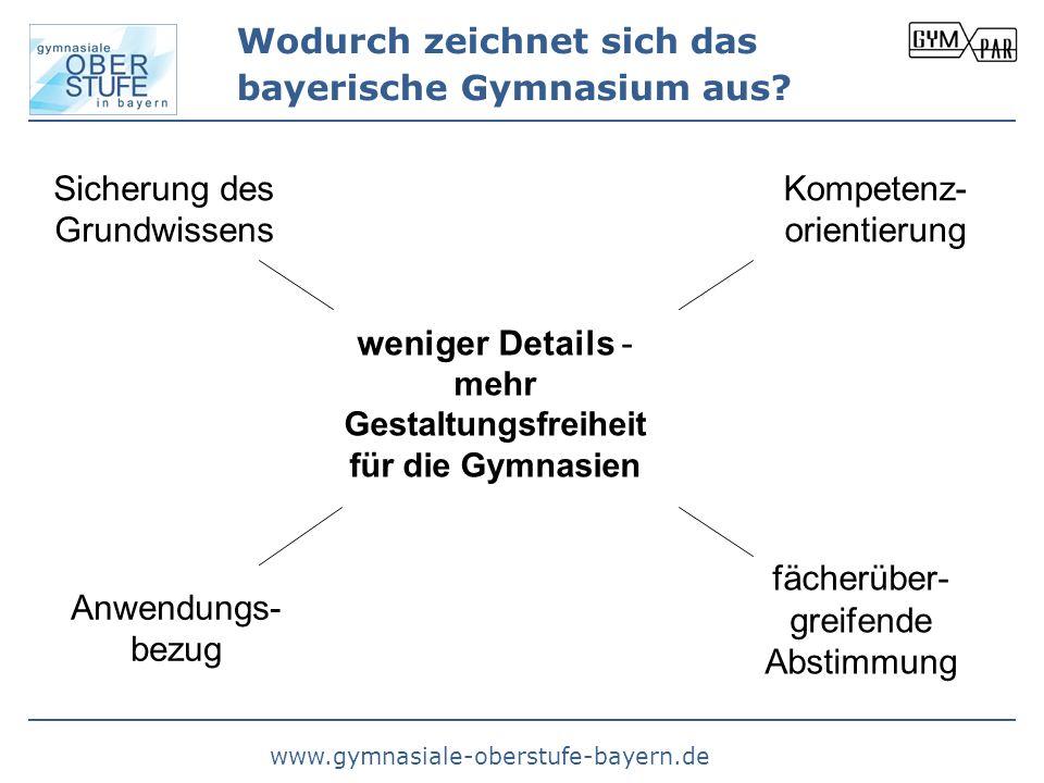 Wodurch zeichnet sich das bayerische Gymnasium aus