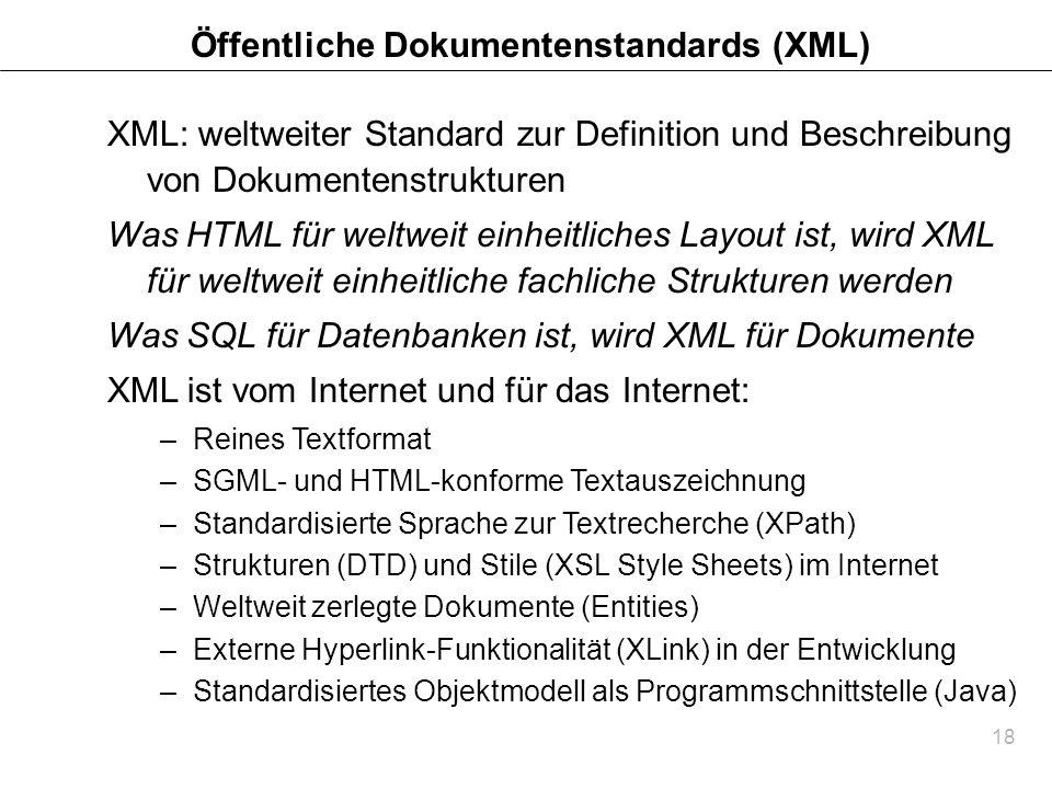 Öffentliche Dokumentenstandards (XML)