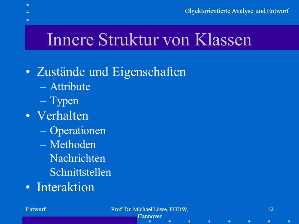 Innere Struktur von Klassen