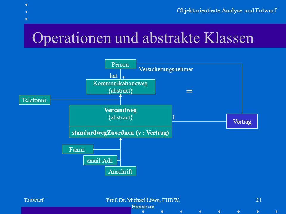 Operationen und abstrakte Klassen