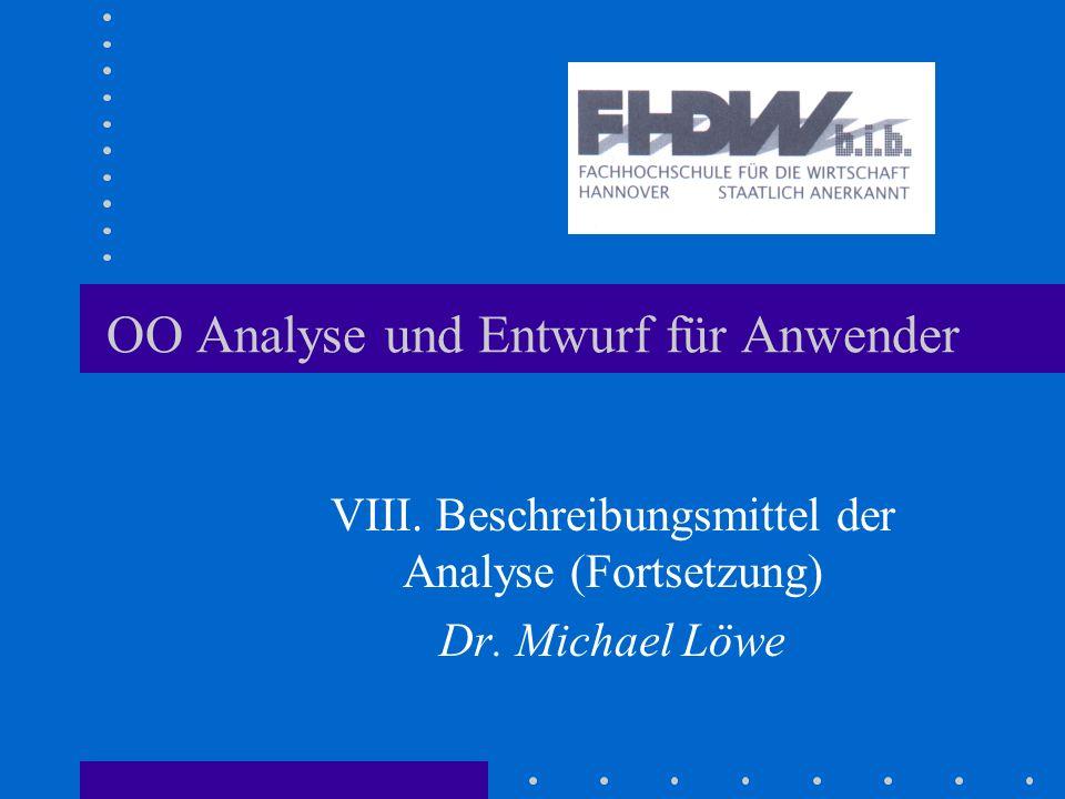 OO Analyse und Entwurf für Anwender