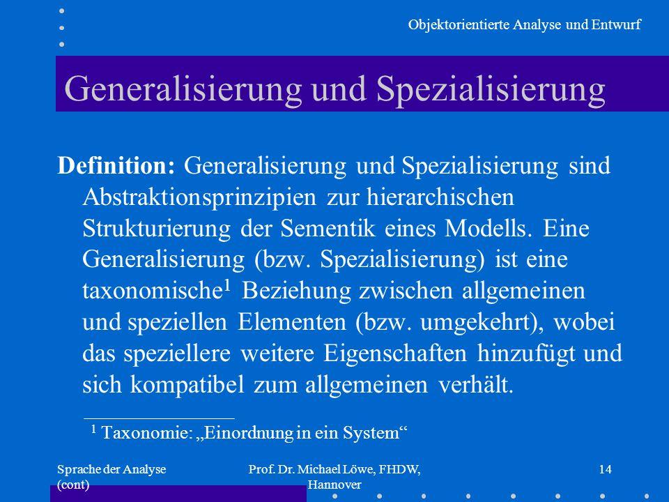 Generalisierung und Spezialisierung
