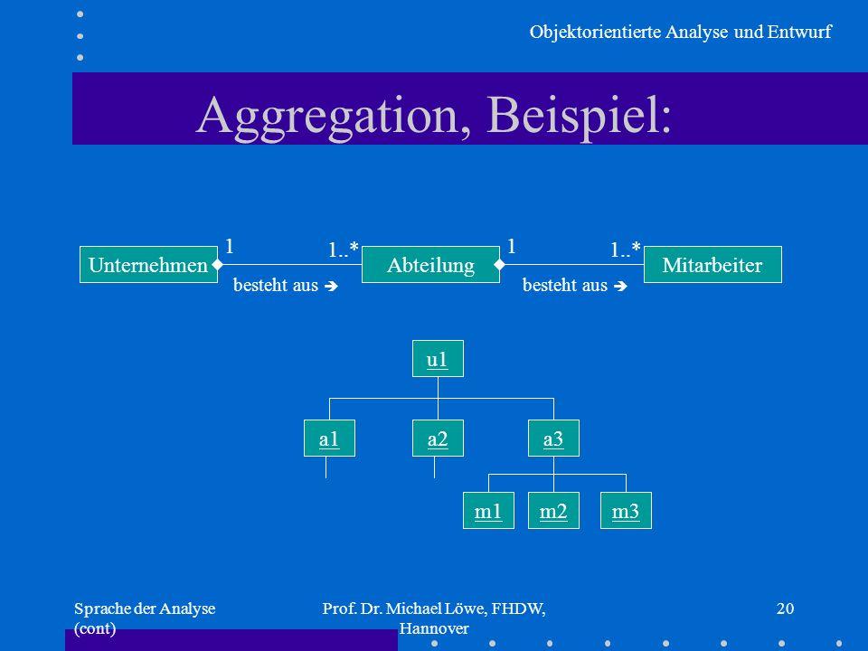 Aggregation, Beispiel: