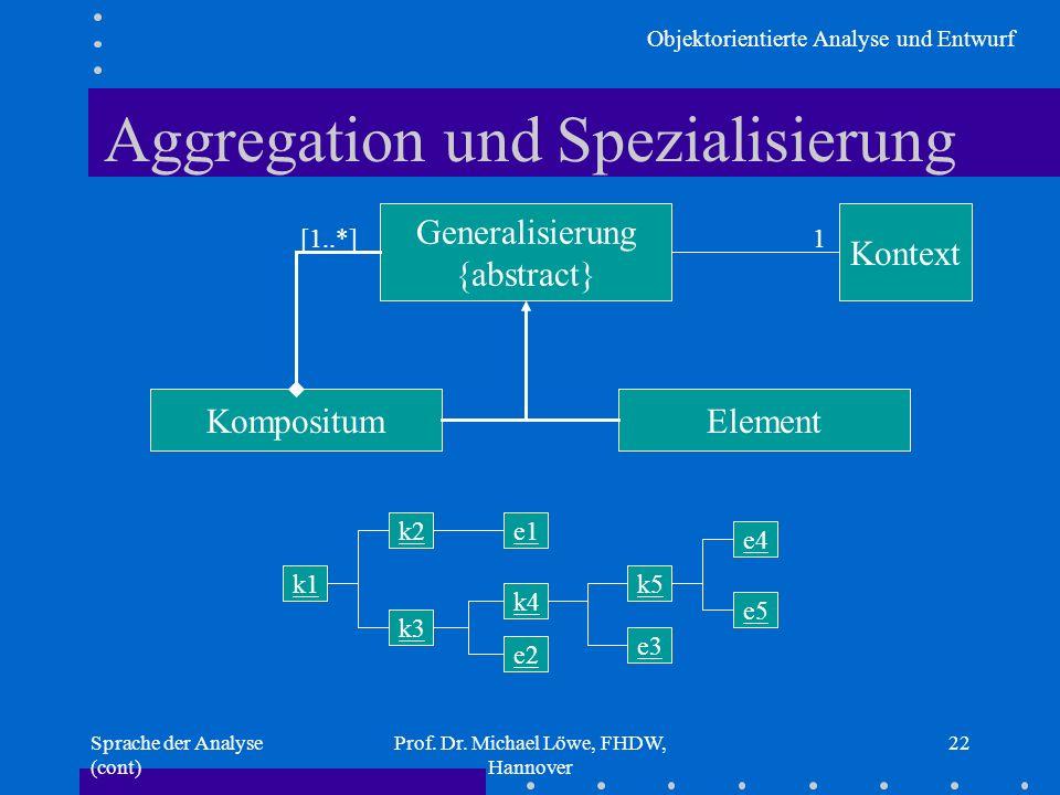 Aggregation und Spezialisierung