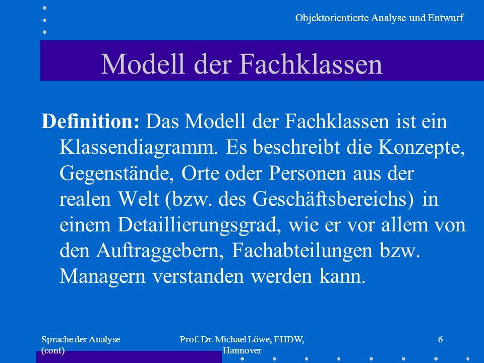 Modell der Fachklassen