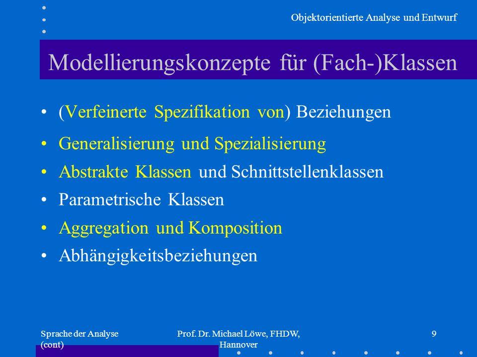 Modellierungskonzepte für (Fach-)Klassen
