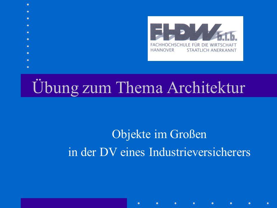 Übung zum Thema Architektur