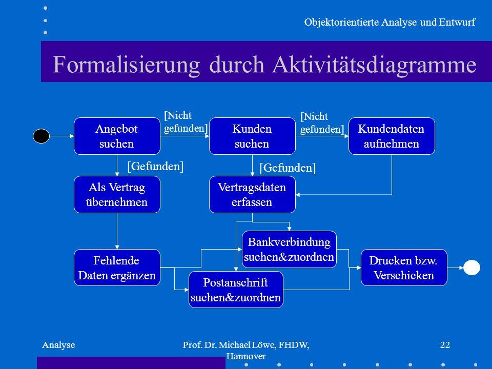 Formalisierung durch Aktivitätsdiagramme