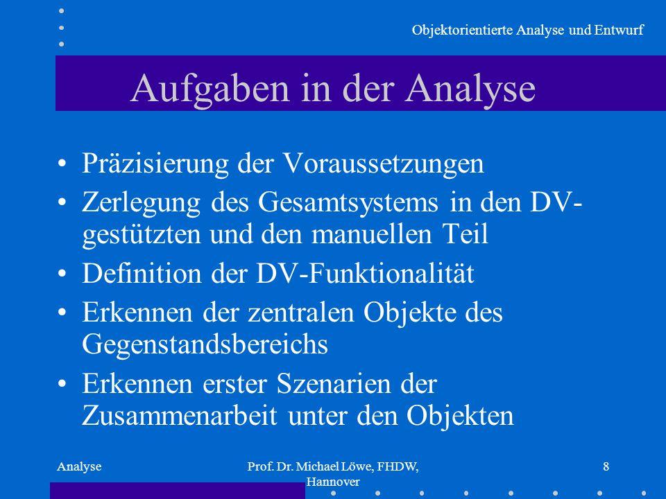 Aufgaben in der Analyse
