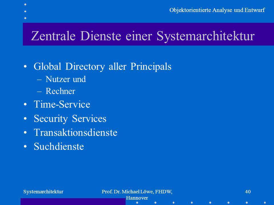 Zentrale Dienste einer Systemarchitektur