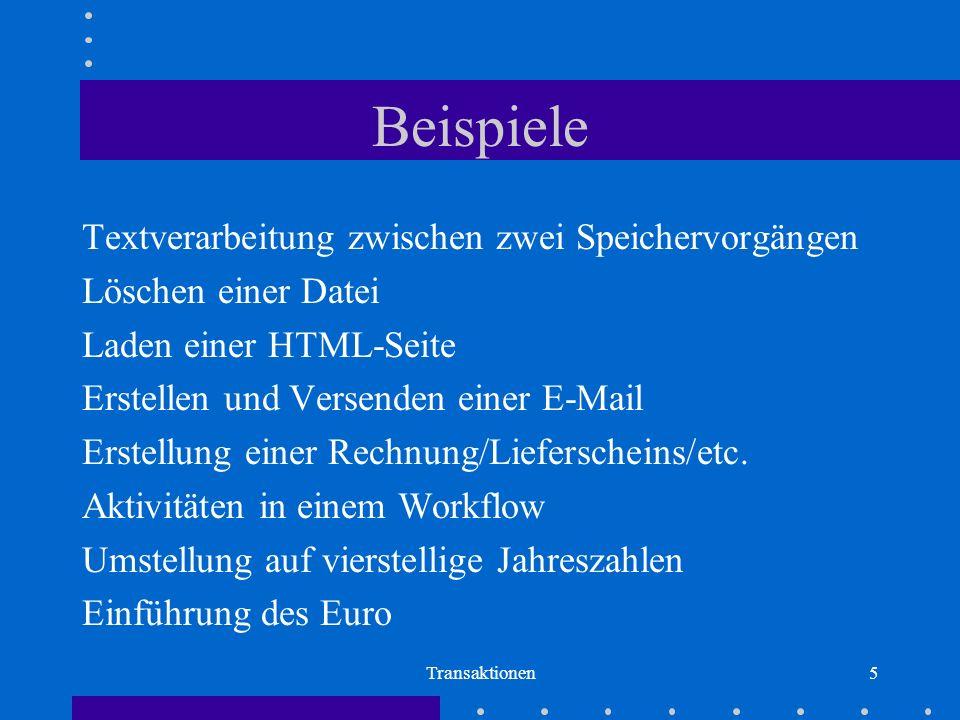 Beispiele Textverarbeitung zwischen zwei Speichervorgängen