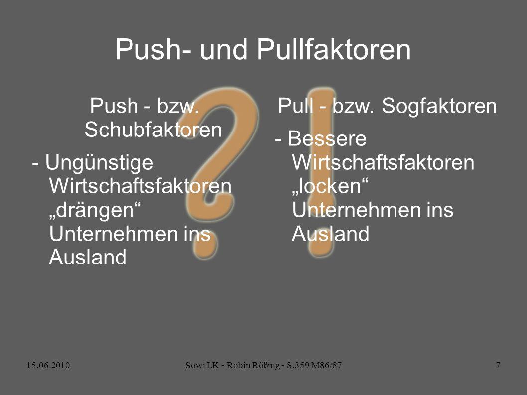 Push- und Pullfaktoren