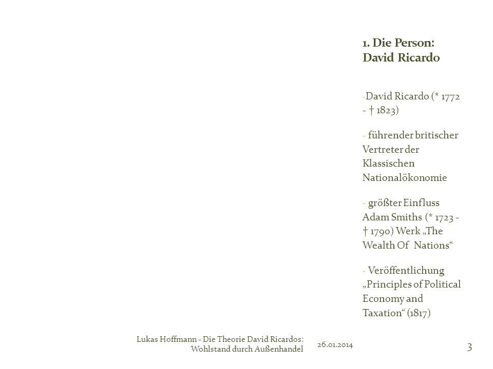 1. Die Person: David Ricardo