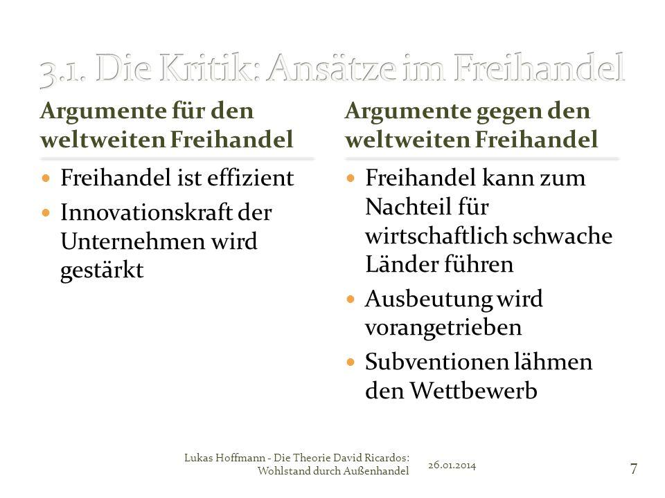 3.1. Die Kritik: Ansätze im Freihandel