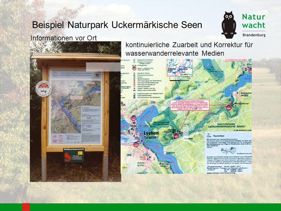 Beispiel Naturpark Uckermärkische Seen