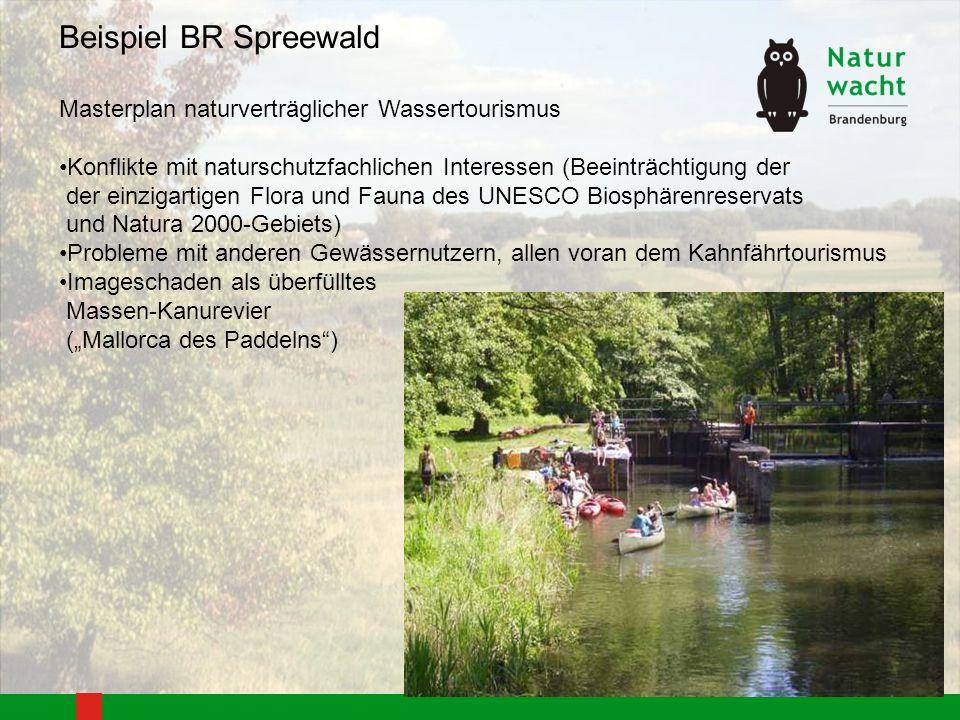 Beispiel BR Spreewald Masterplan naturverträglicher Wassertourismus