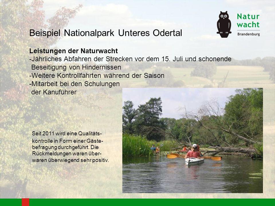Beispiel Nationalpark Unteres Odertal