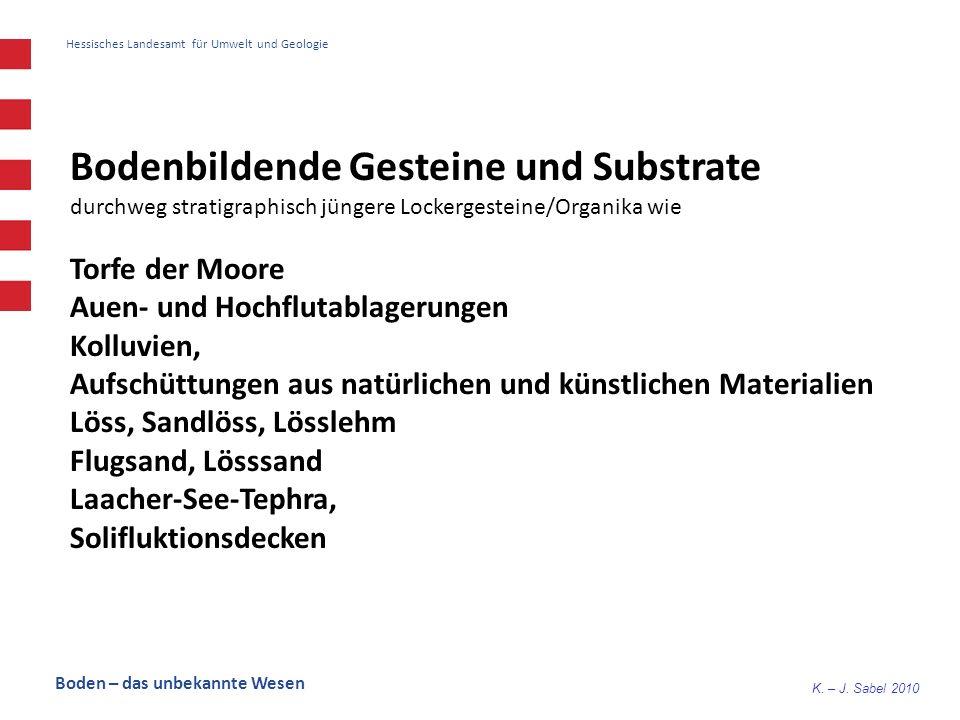 Bodenbildende Gesteine und Substrate