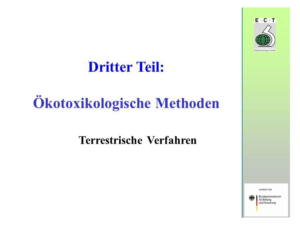 Ökotoxikologische Methoden Terrestrische Verfahren