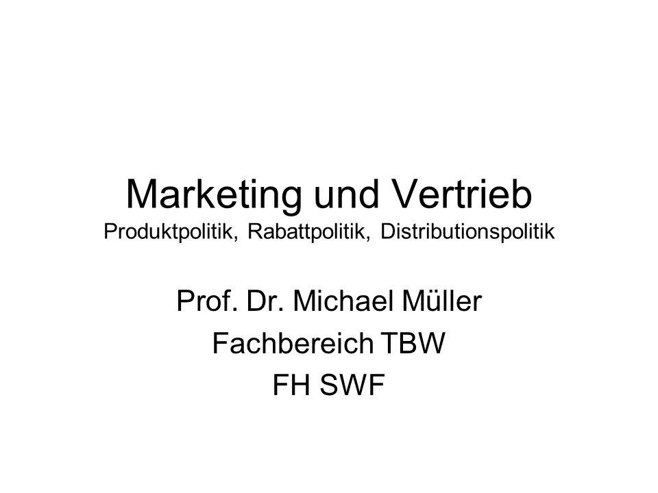 Prof. Dr. Michael Müller Fachbereich TBW FH SWF