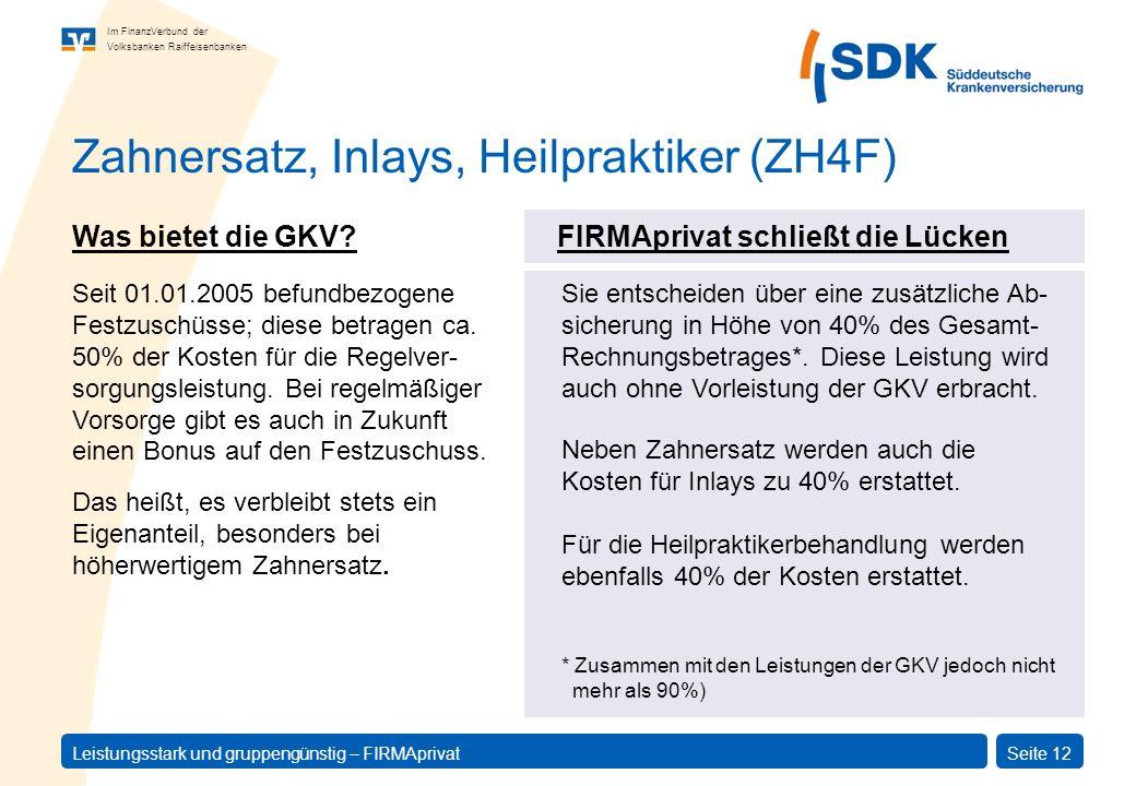 Zahnersatz, Inlays, Heilpraktiker (ZH4F)