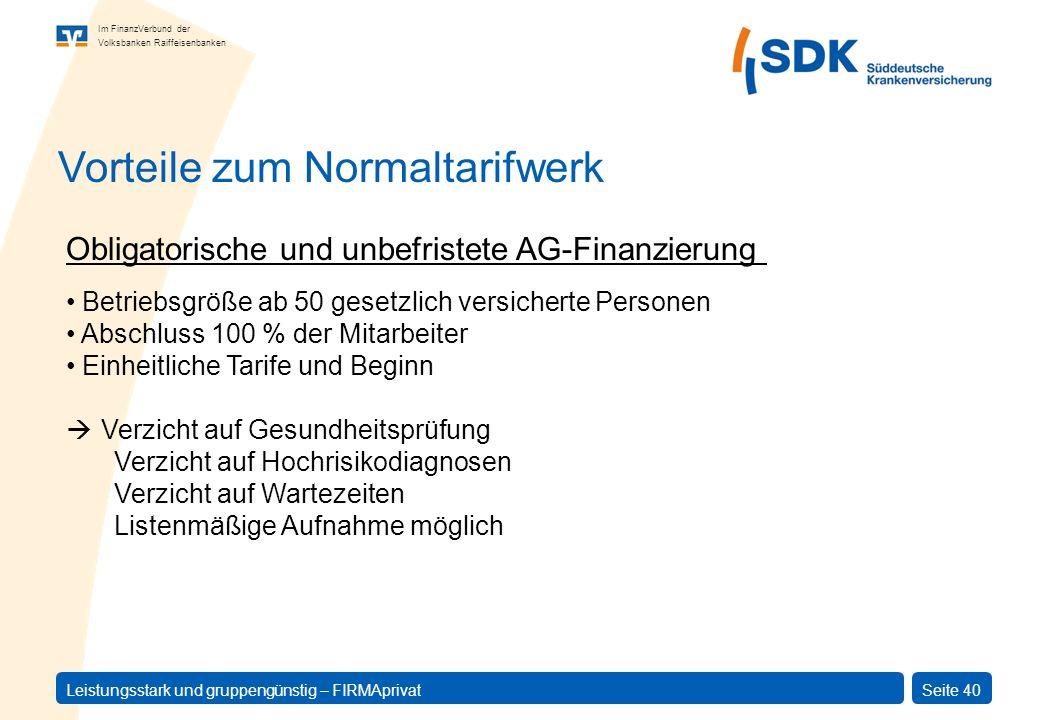 Vorteile zum Normaltarifwerk
