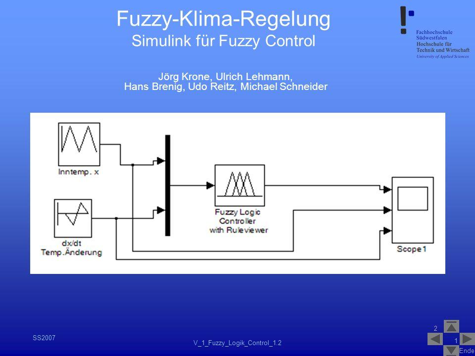 Fuzzy-Klima-Regelung Simulink für Fuzzy Control