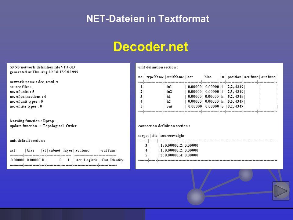 NET-Dateien in Textformat