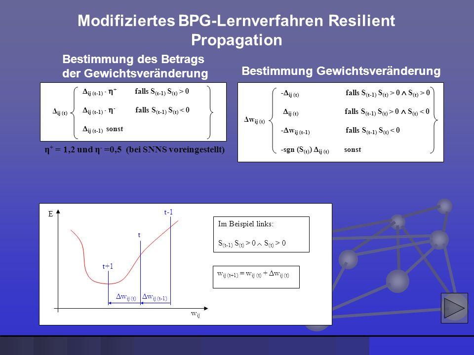 Modifiziertes BPG-Lernverfahren Resilient Propagation