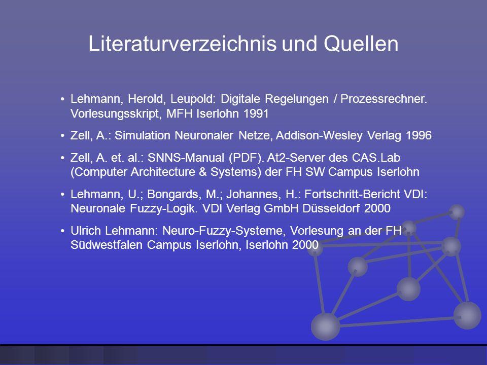 Literaturverzeichnis und Quellen