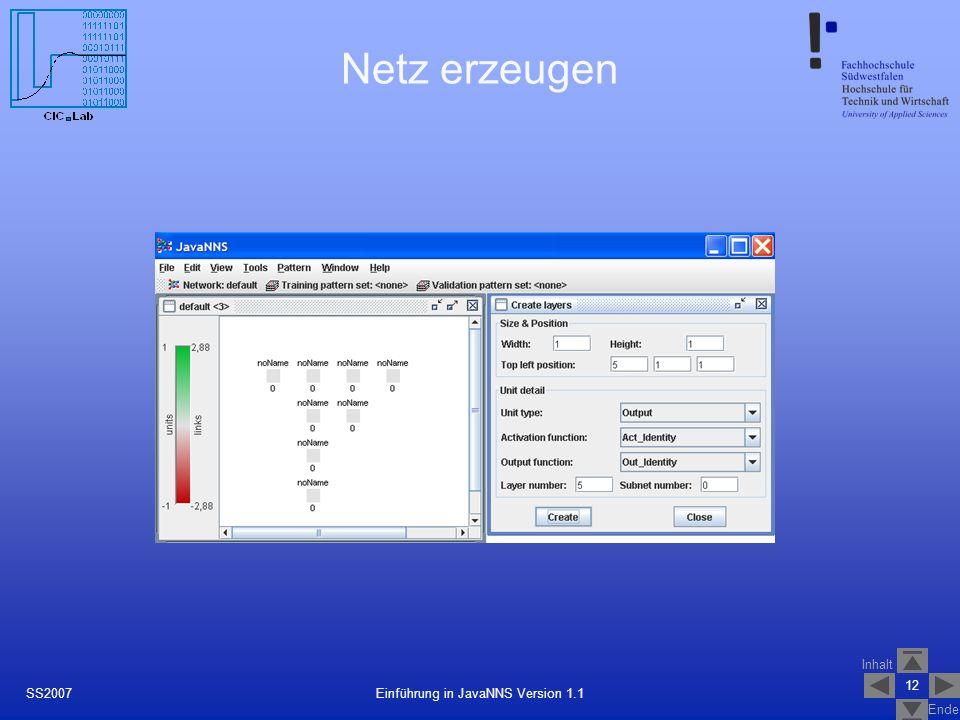 Einführung in JavaNNS Version 1.1