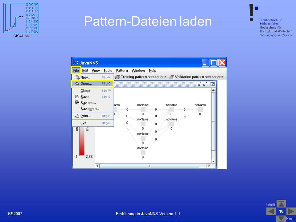 Pattern-Dateien laden