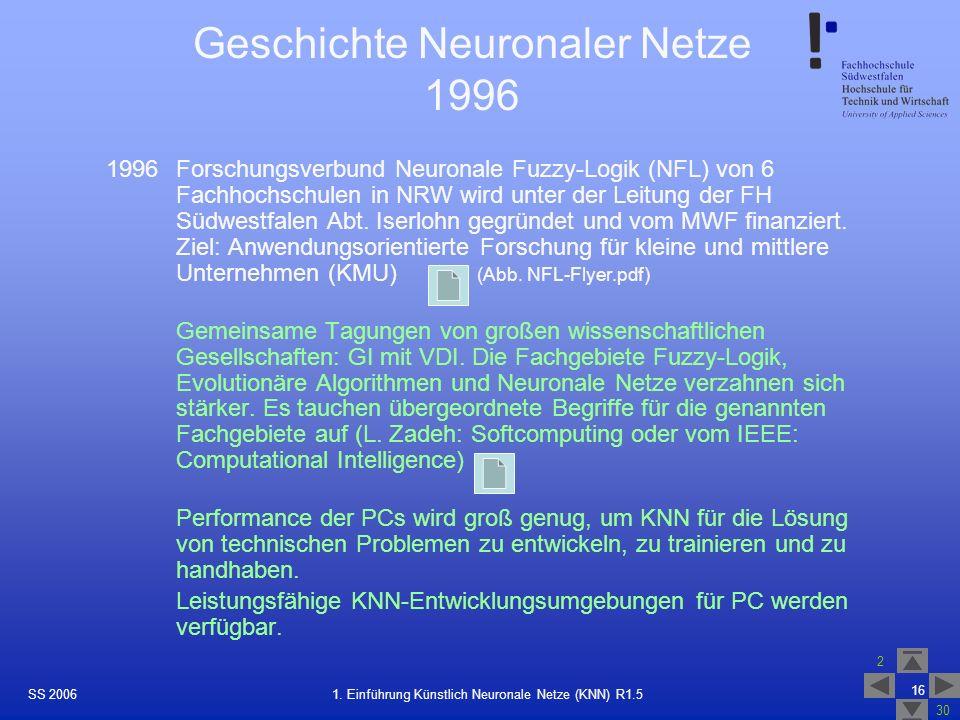 Geschichte Neuronaler Netze 1996