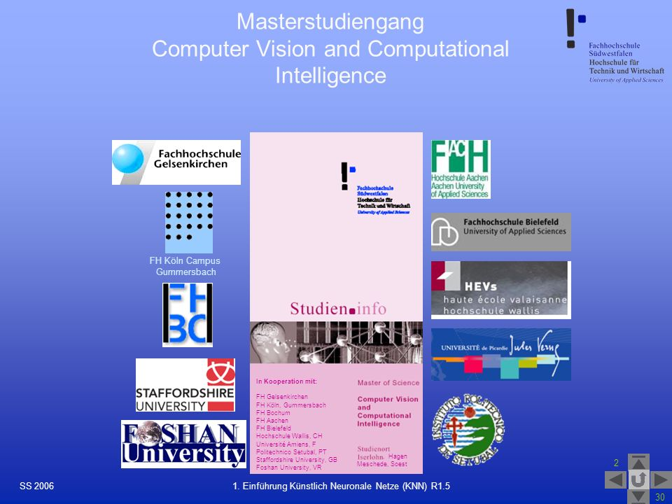 Masterstudiengang Computer Vision and Computational Intelligence