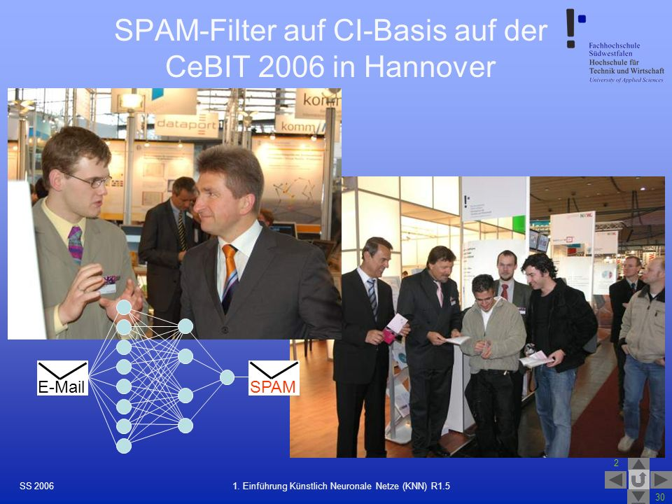 SPAM-Filter auf CI-Basis auf der CeBIT 2006 in Hannover