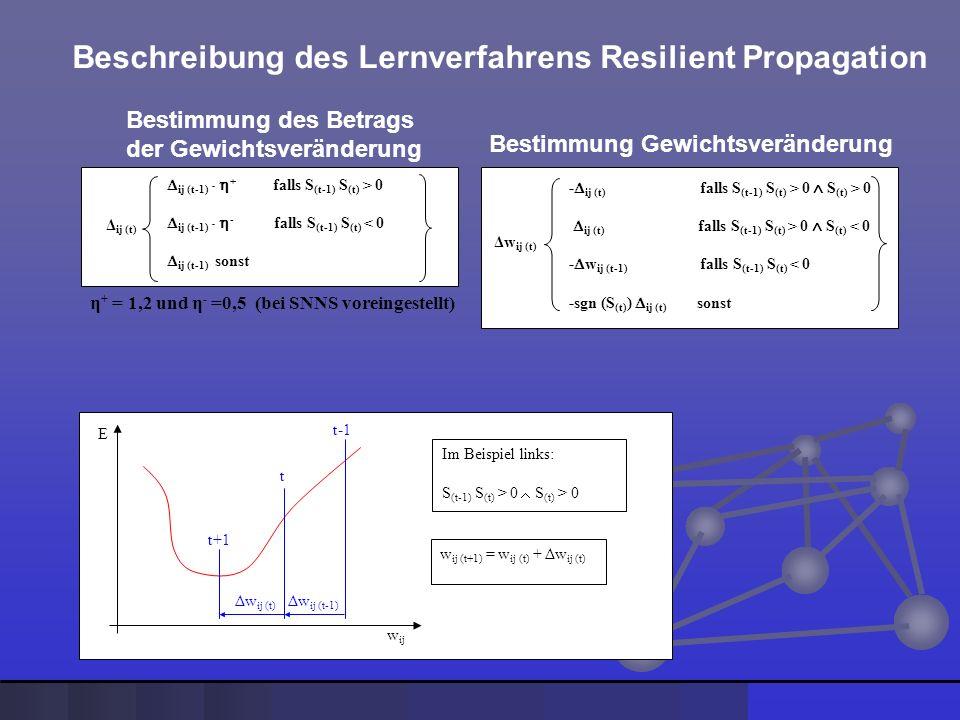 Beschreibung des Lernverfahrens Resilient Propagation